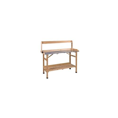 DEMA Holz Pflanztisch Pflanzentisch Gärtnertisch Aster PT 117x45x91 cm