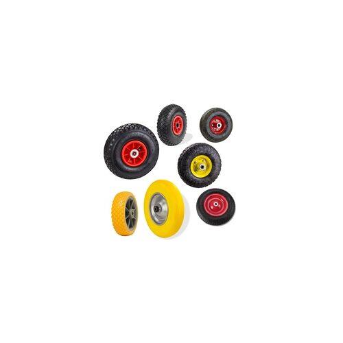 DEMA PU Luft Schubkarrenrad Sackkarrenrad Ersatzrad Reifen Rad, Modell: Modell 4 Schubkarrenrad