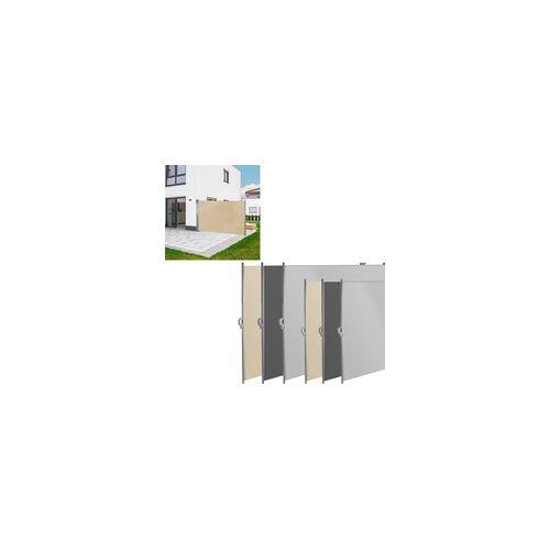 DEMA Seitenmarkise Seitenrollo Sichtschutz Windschutz Sichtschutz Auswahl Farbe Größe, Farbe / Größe: 160 x 300 cm Beige