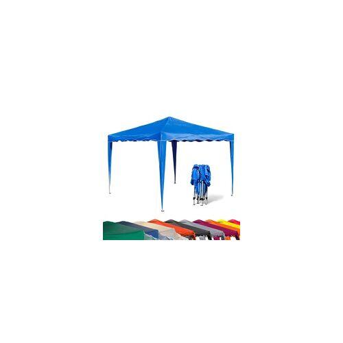 DEMA Garten Pavillon 3x3m Partyzelt - Farbe und Seitenteile wählbar, Farbe: Seitenteile Blau