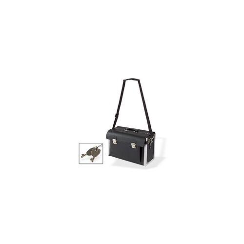 DEMA Elektriker Leder Werkzeugkoffer Elektrikerkoffer Werkzeugtasche Koffer leer