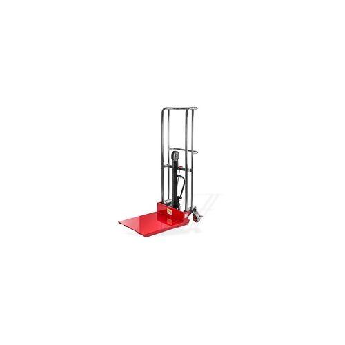 DEMA Hydraulischer Hubtischwagen / Hubwagen bis 400kg rot