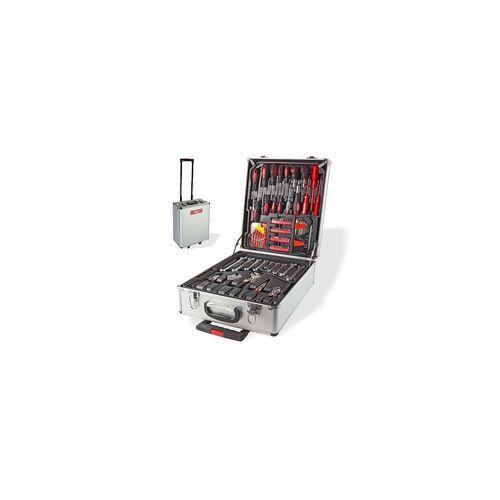 DEMA Alu Werkzeugkoffer mit Werkzeug Alukoffer Trolley Koffer 251tlg Werkzeugset