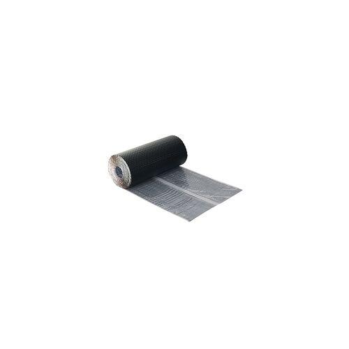 Befestigungstechnik Kaminanschluss Wandanschlussband Schlussband Dachrolle Kamin Alu 300mm schwarz