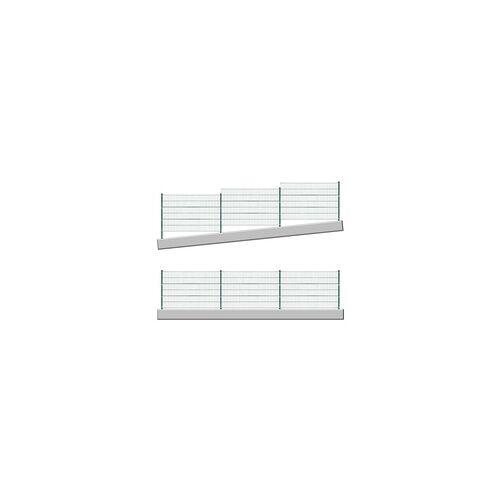 DEMA Stabmattenzaun grün 6x1,2 m Stabmattenzaun Gartenzaun Grundstückszaun Metallzaun