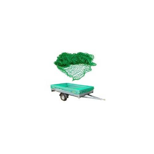 DEMA Gepäcknetz Anhängernetz 3x6 m grün Ladungssicherungsnetz