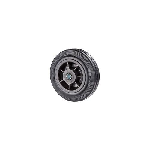 DEMA Vollgummiräder Vollgummirollen d=125mm Achs-d=12 mm bis 80 kg für Transportwagen