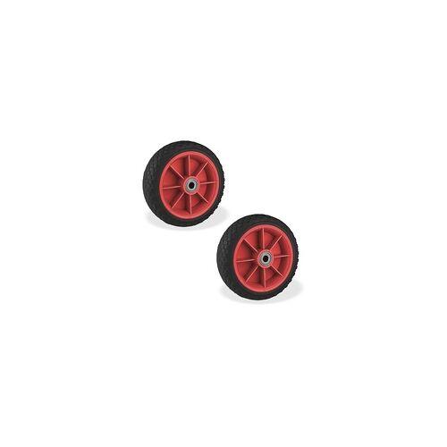 DEMA 2 Stück PU Schubkarrenrad Karrenrad Reifen 65x220 Sackkarrenrad pannensicher
