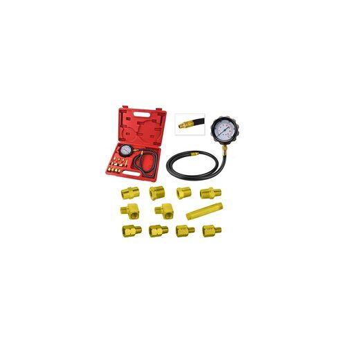 DEMA Öldruckmesser Öldrucktester Öldruckprüfer Öl Messgerät Öldruck Prüfgerät 12 tlg.