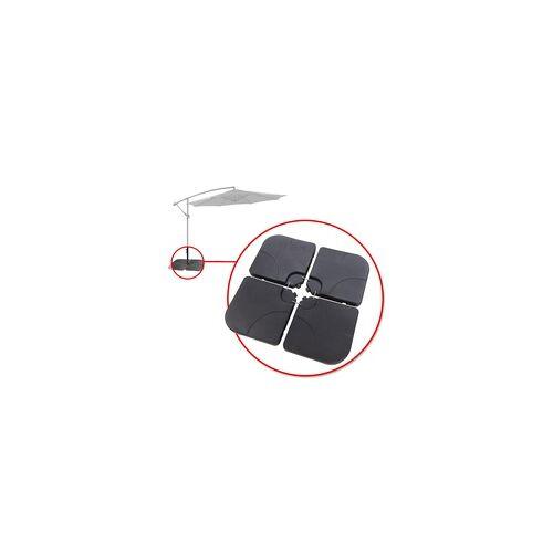 DEMA Gewichte / Beschwerungsplatten für Sonnenschirmständer / Ampelschirm Verona