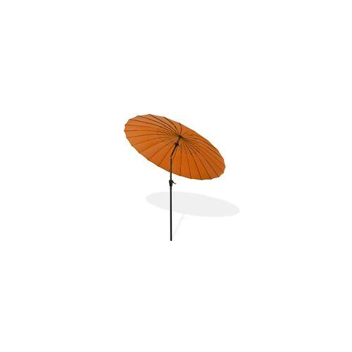 DEMA Sonnenschirm Gartenschirm Sonnenschutz Schirm Kurbelschirm Tokio 2,5m terracotta