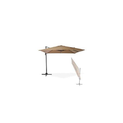 DEMA Sonnenschirm / Ampelschirm / Gartenschirm Verona 3x3m
