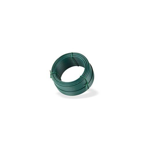 DEMA Bindedraht grün 25 m x 2,0 mm Wickeldraht Volierendraht Maschendraht Zaun Draht