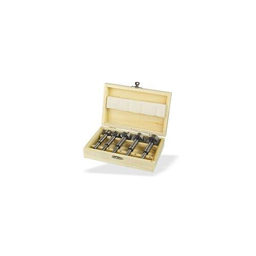 DEMA Forstnerbohrer Holzbohrer 5tlg. Bohrer Set Ø 15-35mm im Holzkasten