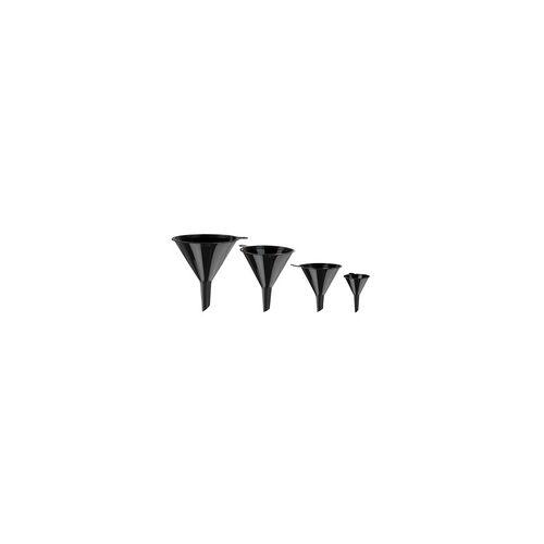 DEMA Kunststoff Trichter Set 4 tlg. Schwarz