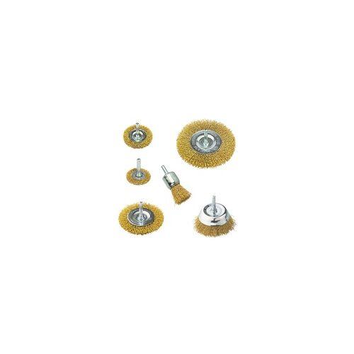 DEMA Scheibenbürste Set 6tlg. für Bohrmaschine / Akkubohrer DSB6