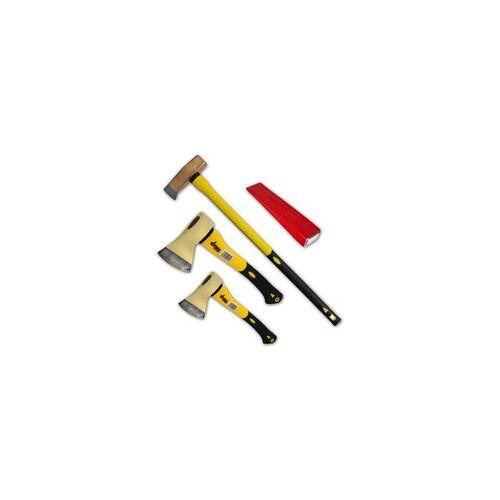 DEMA 4er Axt-Set Spaltaxt / Spaltbeil / Spalthammer / Spaltkeil