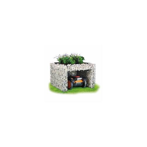 bellissa Mährobotergarage, bepflanzbar, mit Pflanzschale, 75 x 75 x 53 cm
