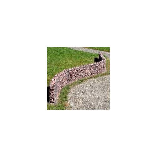 bellissa Gabionen Mauer 232x40cm erweiterbar formbar Steinmauer