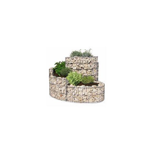 bellissa Gabionen Kräuterspirale 110x90x60 cm Garten Terrasse