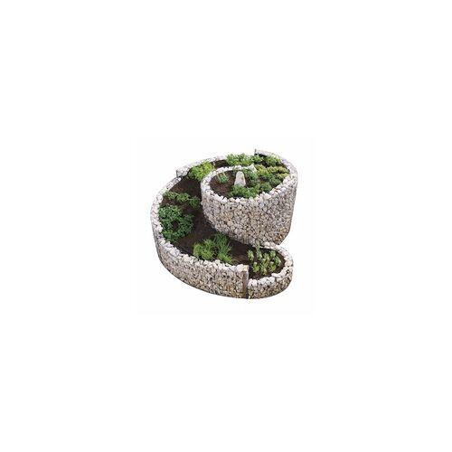 Bellissa Kräuterspirale Pflanzspirale 200x150 cm Kräuterschnecke Gabione Steine