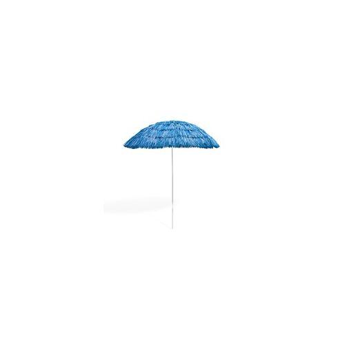 DEMA Hawaii Strohschirm blau 160 cm UV30 Strandschirm Sonnenschirm Gartenschirm