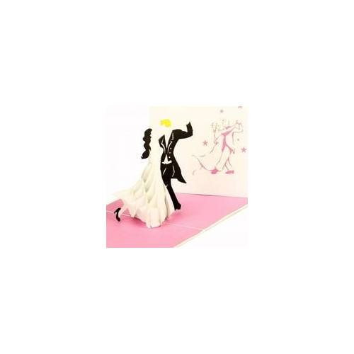 Colognecards Pop-Up Karte Tanzpaar rosa