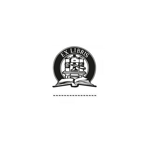 stempel-fabrik.de Exlibris Holzstempel - Buch (50x50 mm)
