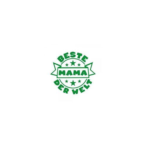 stempel-fabrik.de Muttertag Holzstempel - Beste Mama der Welt (Ø 40 mm)