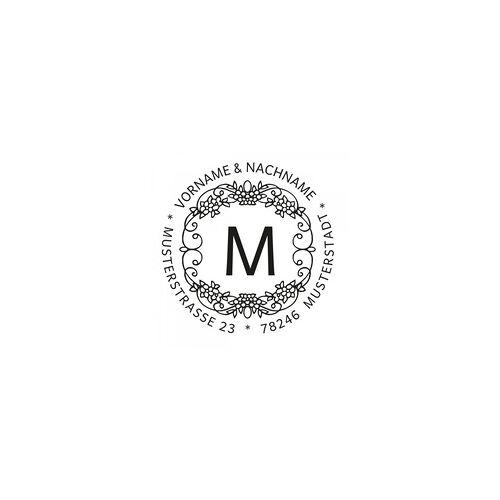 Trodat Monogrammstempel - Blumendekor - Trodat 4642