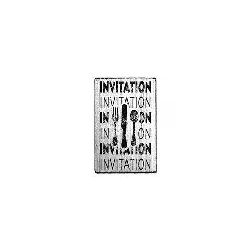 "COLOP Arts & Crafts Vintage Stempel ""Invitation""- Besteck 2"