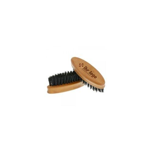 stempel-fabrik.de Bartbürste aus Birnbaumholz oval (Gravurmaß 40x15mm)