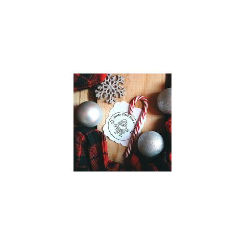 stempel-fabrik.de Weihnachten Holzstempel - Santa Claus (Ø 40 mm)
