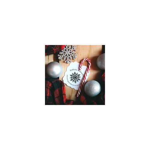 stempel-fabrik.de Weihnachten Holzstempel - Schneeflocke (Ø 40 mm)