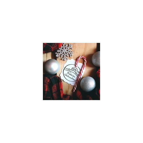 stempel-fabrik.de Weihnachten Holzstempel - Weihnachtsmann (Ø 40 mm)