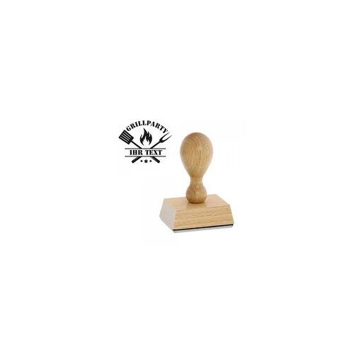 stempel-fabrik.de Feierlichkeiten Holzstempel - Grill Party (Ø 40 mm)