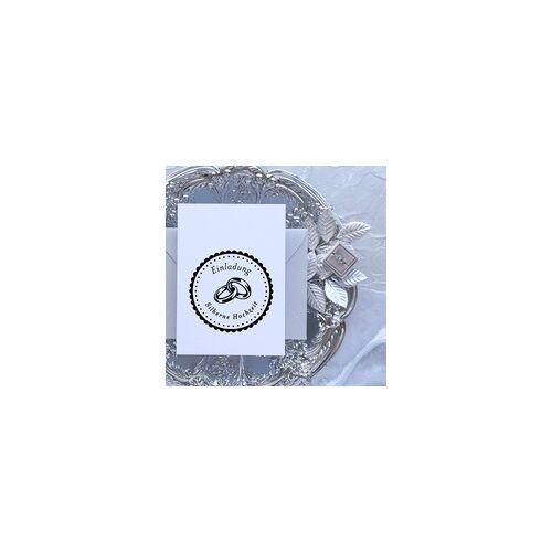 stempel-fabrik.de Hochzeitsstempel - Einladung - Ringe (Ø 50 mm)