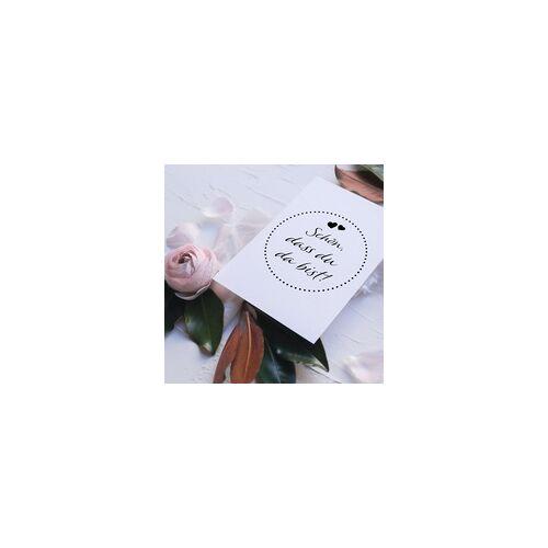 stempel-fabrik.de Hochzeitsstempel – Schön, dass Du da bist - Herzen 2 (Ø 50 mm)