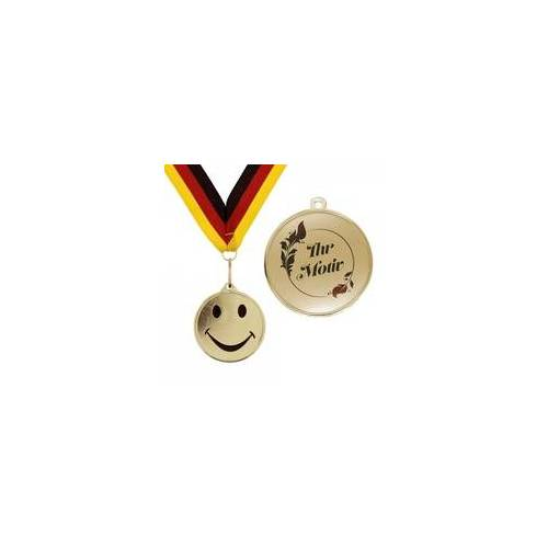 stempel-fabrik.de Medaille Smiley (10 Stück)