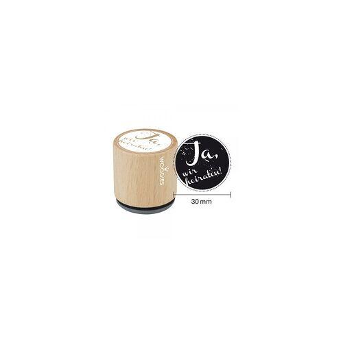 COLOP Arts & Crafts Woodies Stempel - Ja, wir heiraten W03002