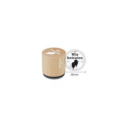 COLOP Arts & Crafts Woodies Stempel - Wir heiraten W03008