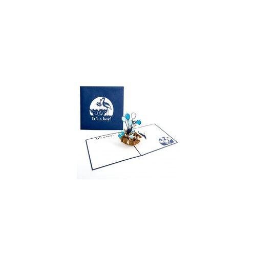 Colognecards Pop-Up Karte Storchennest Its a Boy