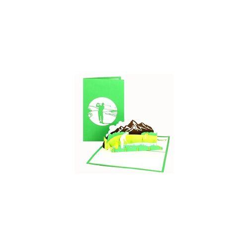 Colognecards Pop-Up Karte Golfspieler
