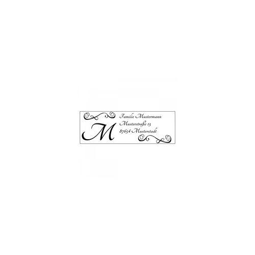 Trodat Monogrammstempel - Arabesken Design und Initialen - Trodat 4915