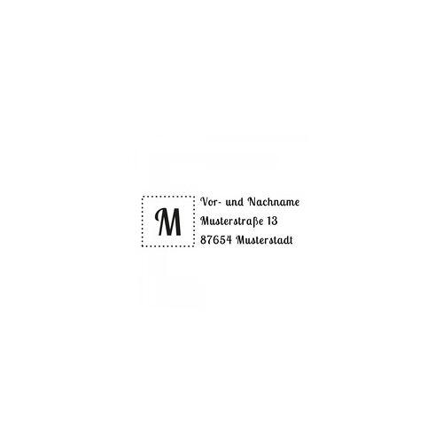 Trodat Monogrammstempel - Adresse mit gerahmten Initialen - Trodat 4915