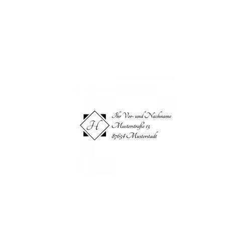 Trodat Monogrammstempel - Adresse & Initialen in Diamant - Trodat 4915