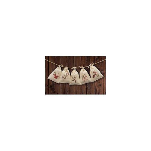 stempel-fabrik.de Adventskalender mit 24 Säckchen zum Befüllen mit Kordel