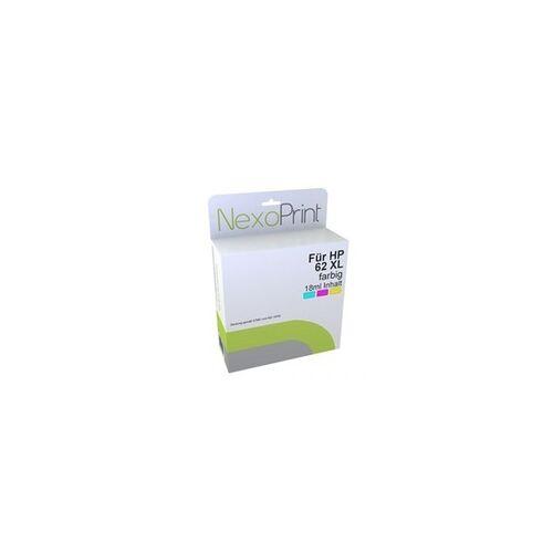 NexoPrint Druckerpatrone für HP 62XL farbig NexoPrint - NX-C2P07AE