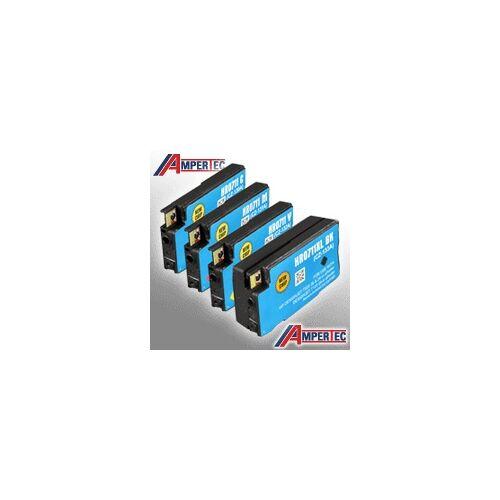 Ampertec 4 Ampertec Tinten für HP No 711  4-farbig