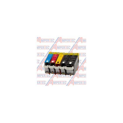 Ampertec 15 Ampertec Tinten für PGI-520 + CLI-521 BK C M Y  4-farbig